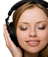 Fayetteville Radio Advertising Woman With Headphones
