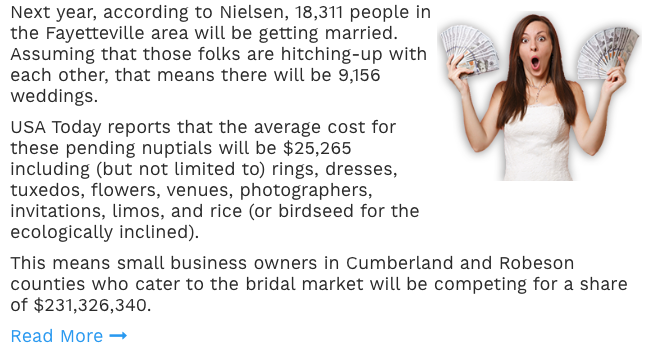 Bridal and Wedding Marketing In Fayetteville