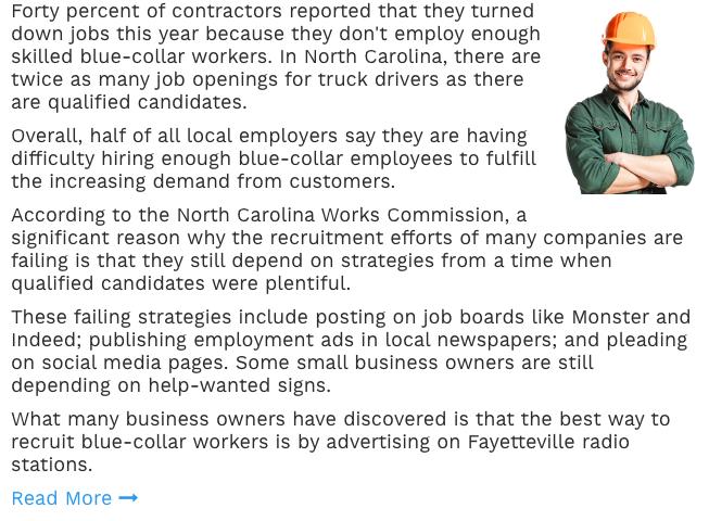 Recruitment Advertising in Fayetteville