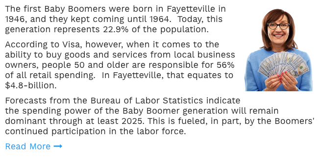 Market To Baby Boomers In Fayetteville